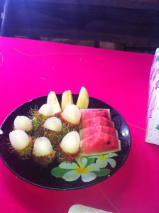 Тайская кухня, фрукты.